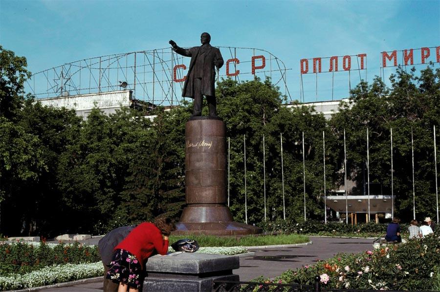 путешествие по Транссибу Омск памятник Ленину