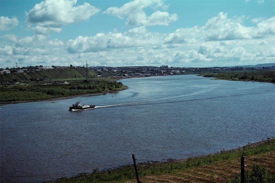 путешествие по Транссибу Ачинск Чулым приток Оби
