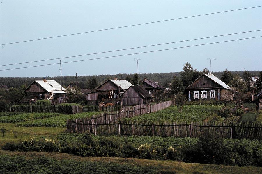 путешествие по Транссибу Деревня Прикамье