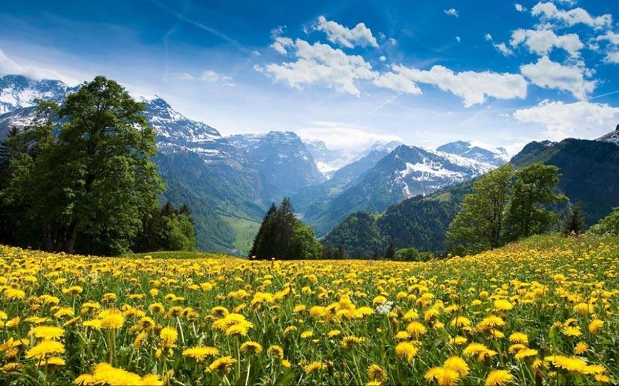 природа восхитительно красочна Швейцария