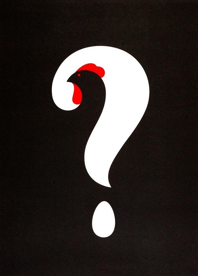 Нома Бар Noma Bar иллюстрации с двойным смыслом Что было первым?