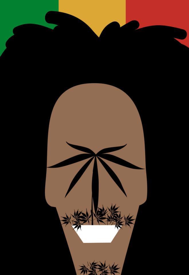 Нома Бар Noma Bar иллюстрации с двойным смыслом Боб Марли