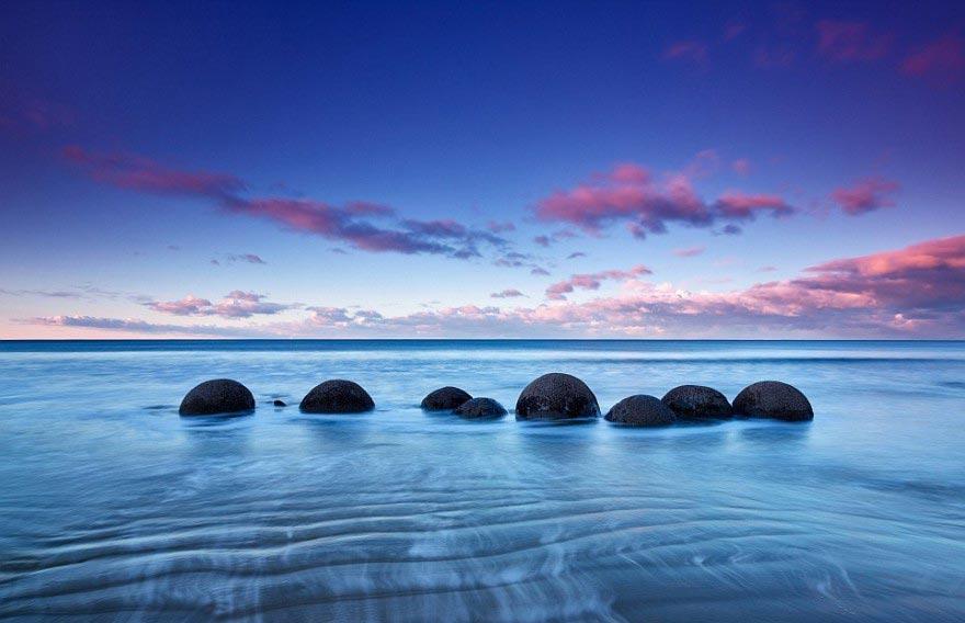 фотограф Пол Райффер 3D-пейзажи photographer Paul Reiffer 3D-landscapes Моеракские валуны Новая Зеландия