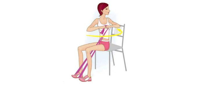 Пилатес упражнения с эластичной лентой