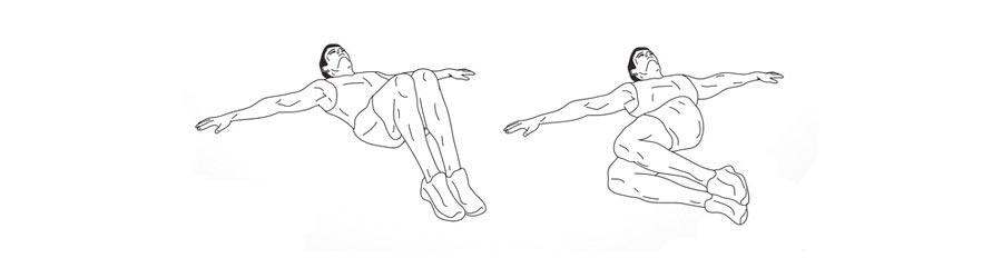 Пилатес для укрепления поясницы Скручивание позвоночника из положения лежа