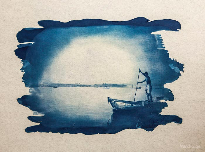 Миндиа Миделашвили уникальный метод печати фотографий sun printing