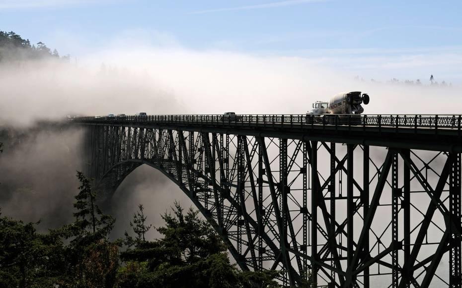 страшные мосты в мире Deception Pass Вашингтон США USA