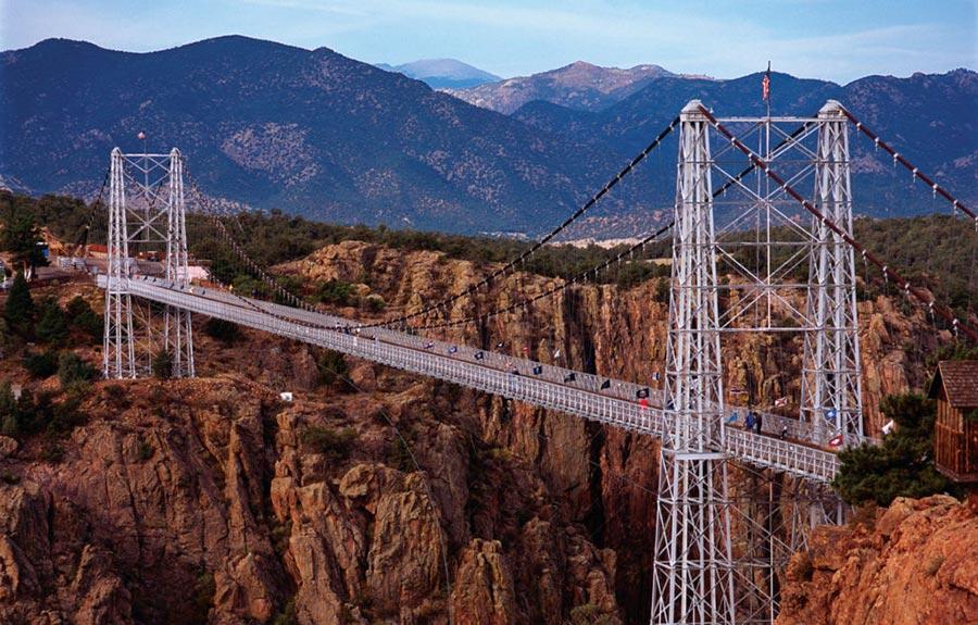 страшные мосты в мире Мост Королевского ущелья Колорадо США USA