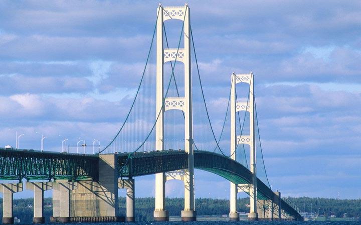 страшные мосты в мире Мост Макинак Мичиган США USA