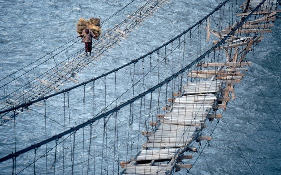 страшные мосты в мире Мост Хуссаини Пакистан