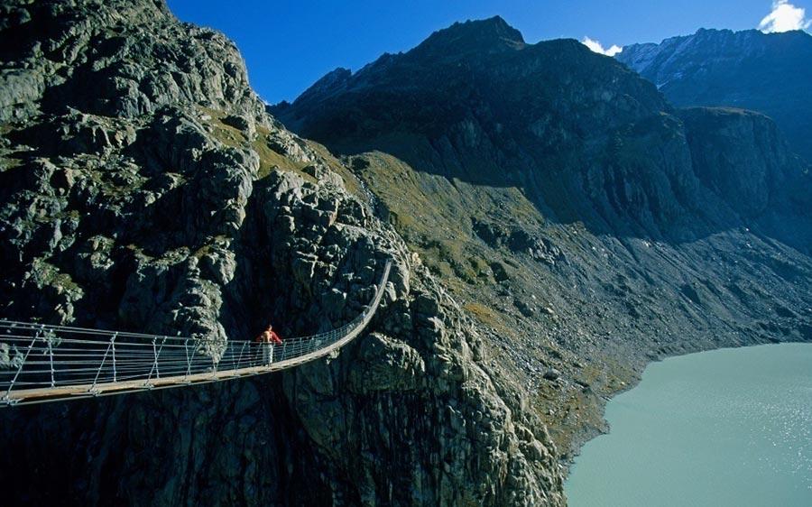 страшные мосты в мире Мост Трифт Швейцария Switzerland