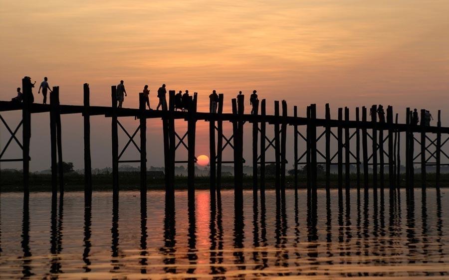 страшные мосты в мире Мост Убэйн Мьянма