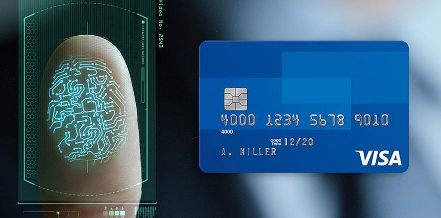 Visa встроила в платежные карты сканер отпечатка пальца