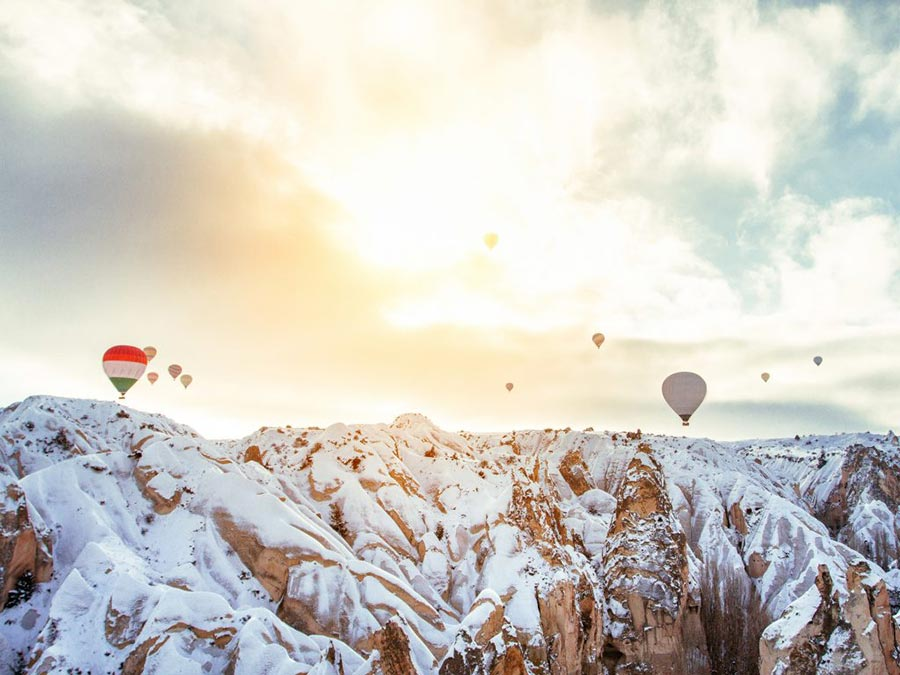 зимние фотографии Каппадокия Турция