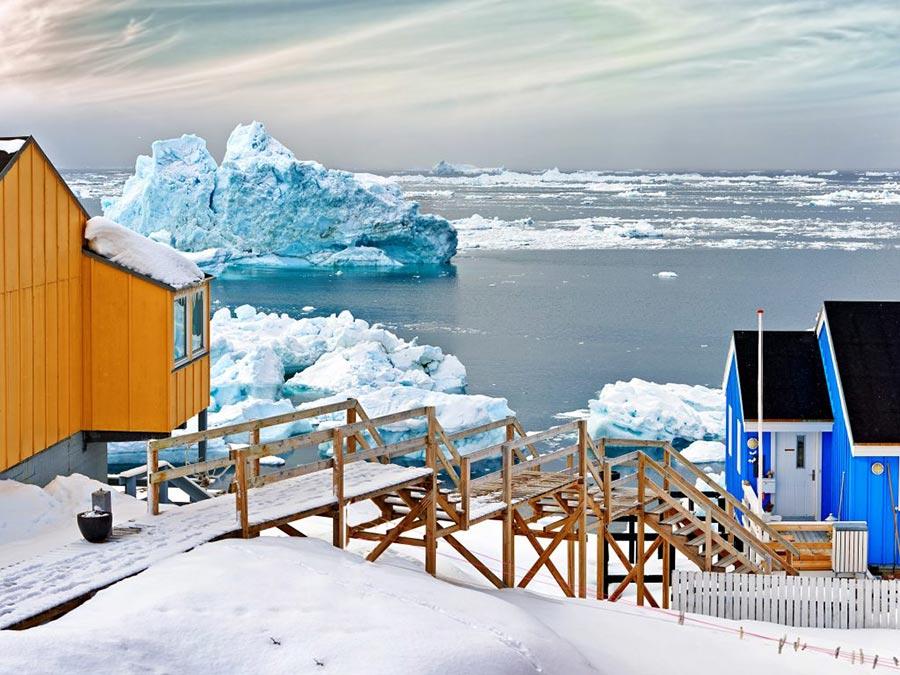 зимние фотографии Илулиссат Гренландия Greenland