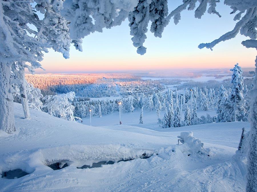 зимние фотографии Лапландия Финляндия Finland