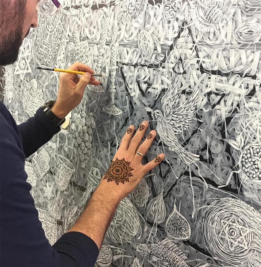 Алекси Торрес Alexi Torres сплетенные картины