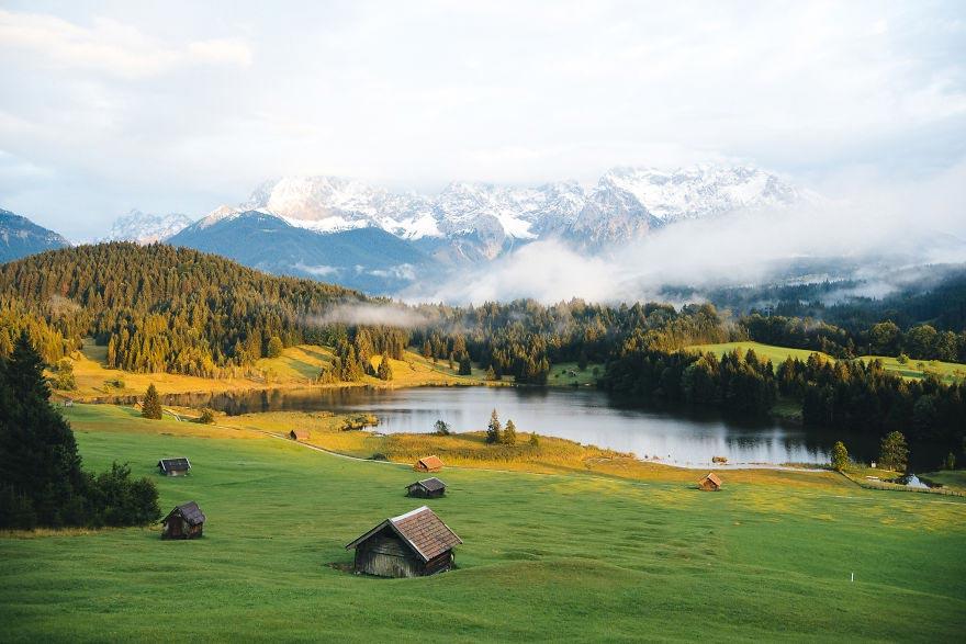 Йохан Лолос пейзажи Европы Gerold Бавария Германия