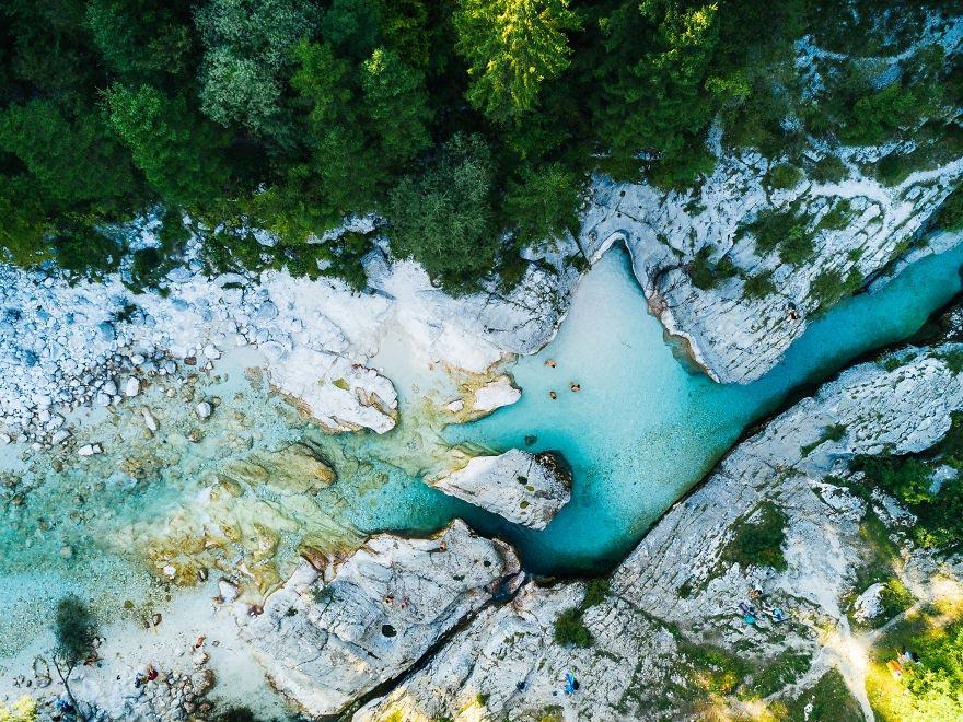 Йохан Лолос пейзажи Европы Река Соча Национальный парк Триглав Словения