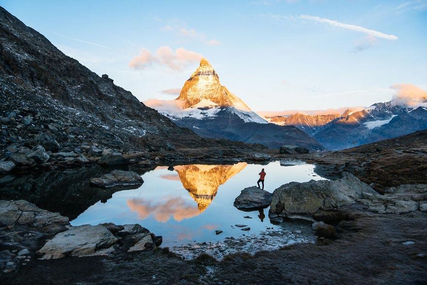 Йохан Лолос пейзажи Европы Гора Маттерхорн кантон Вале Швейцария