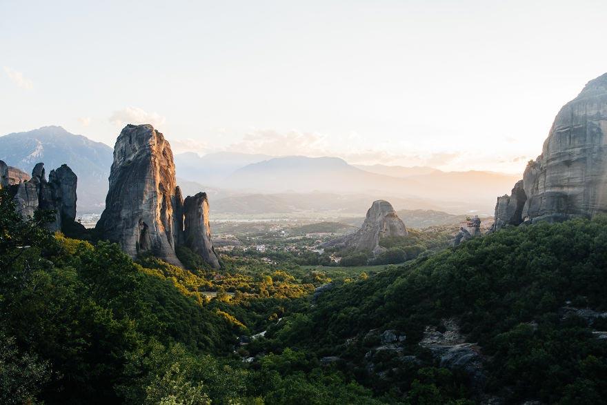 Йохан Лолос пейзажи Европы Скалы Монастыри Метеоры Фессалия Греция