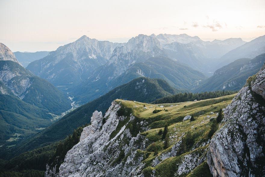 Йохан Лолос пейзажи Европы Гора Монблан Верхняя Савойя Франция