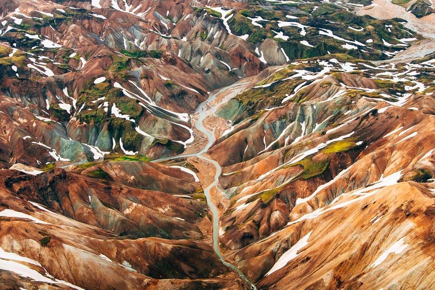 Йохан Лолос пейзажи Европы Гора Landmannalaugar Исландия