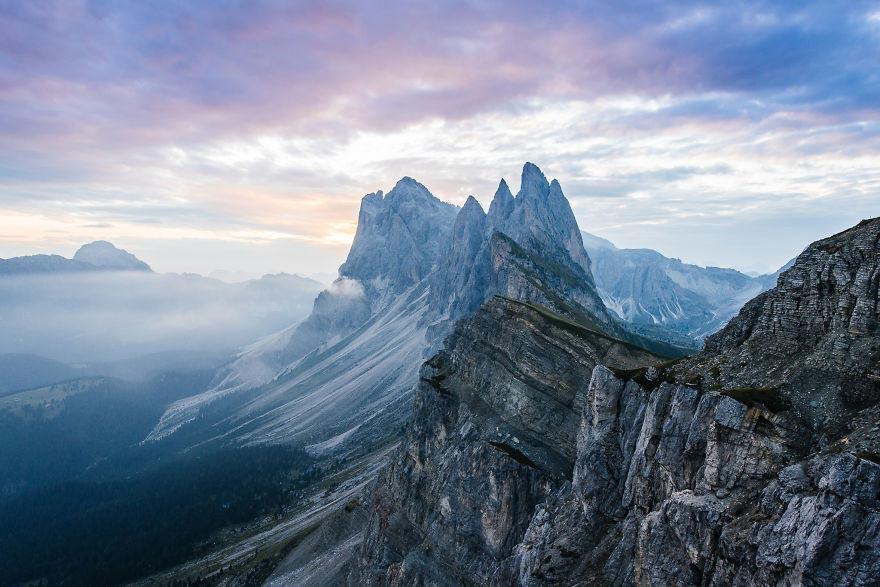 Йохан Лолос пейзажи Европы Гора Seceda Южный Тироль Италия