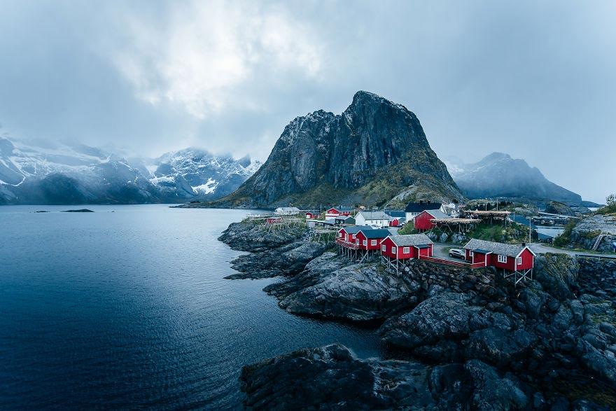 Йохан Лолос пейзажи Европы Хамнёй Лофотенские острова Норвегия