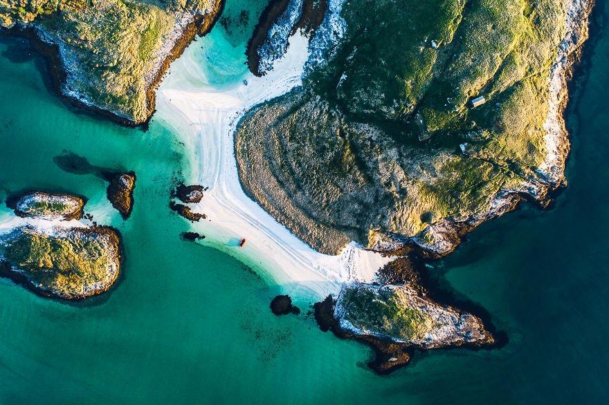 Йохан Лолос пейзажи Европы Остров Соммарёй коммуна Тромсё Норвегия