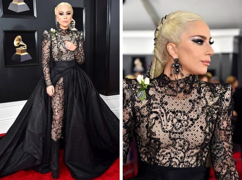 Звезды Грэмми наряды Леди Гага