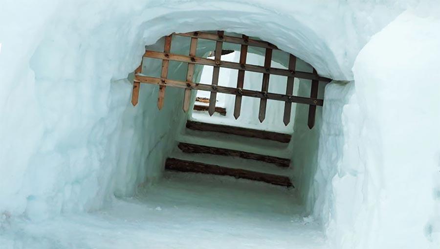Snowlandia снежный лабиринт в Польше