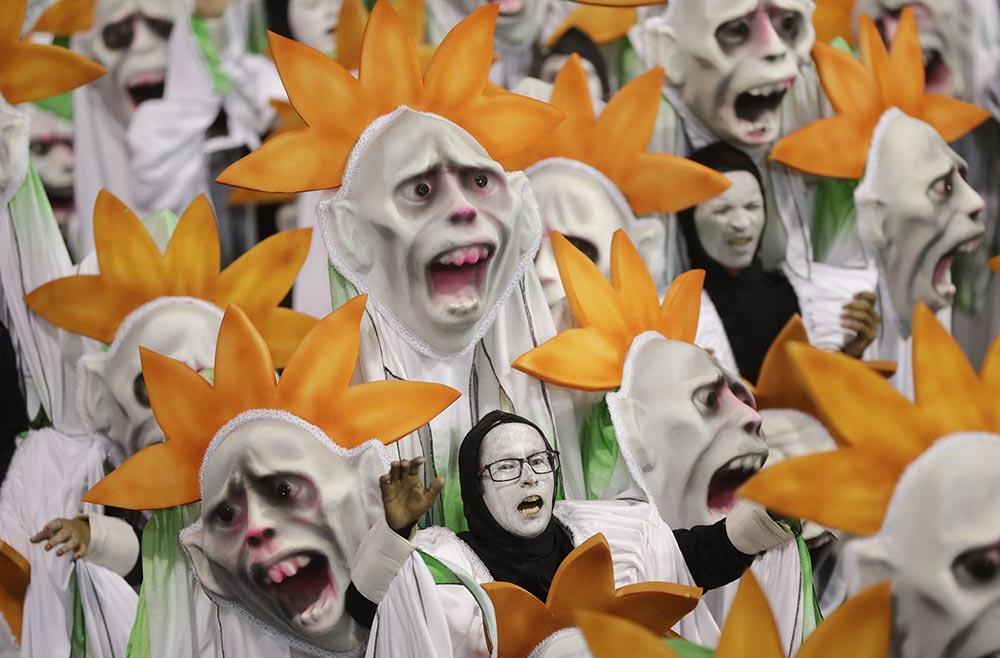 школа Samba карнавал Сан-Паулу Бразилия