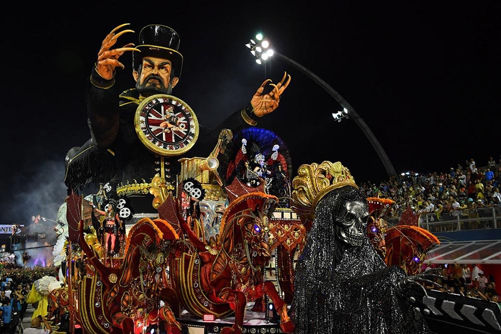 школа Independent Tricolor Samba карнавал Сан-Паулу Самбадроме Бразилия