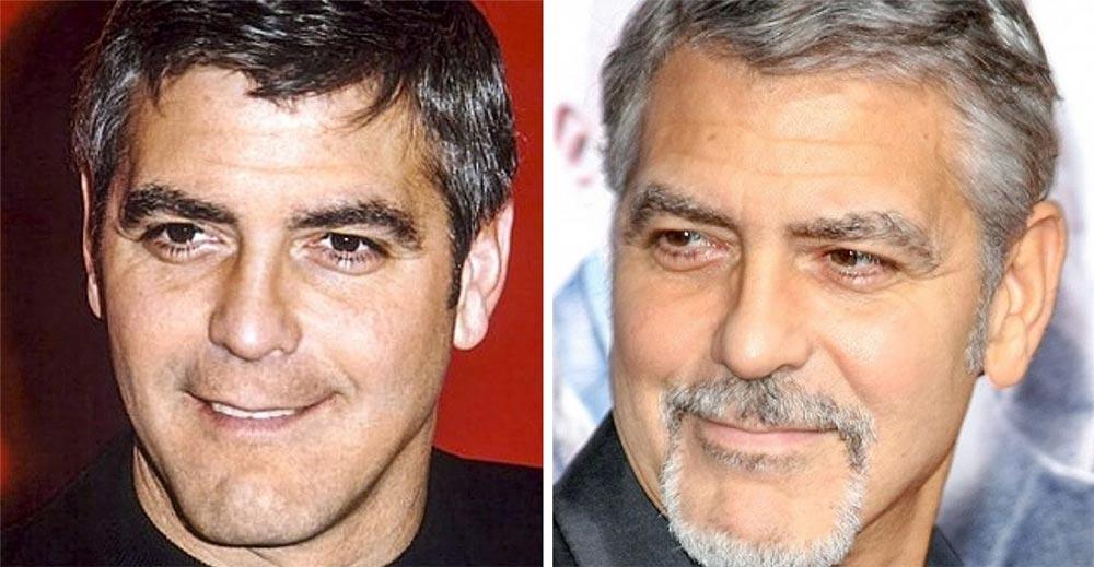 знаменитости седина Джордж Клуни