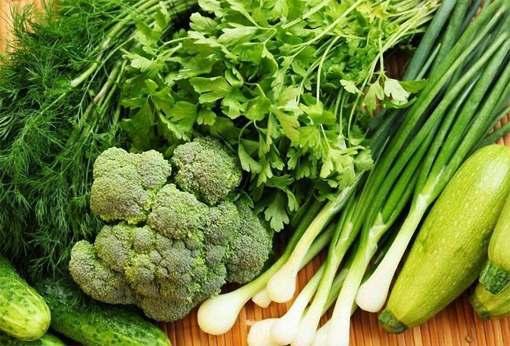 правильные перекусы Овощи и зелень