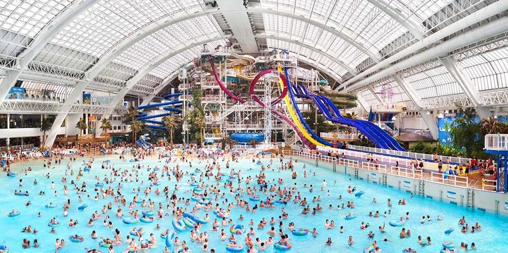 Крупнейший крытый бассейн с волнами Голубой гром Канада