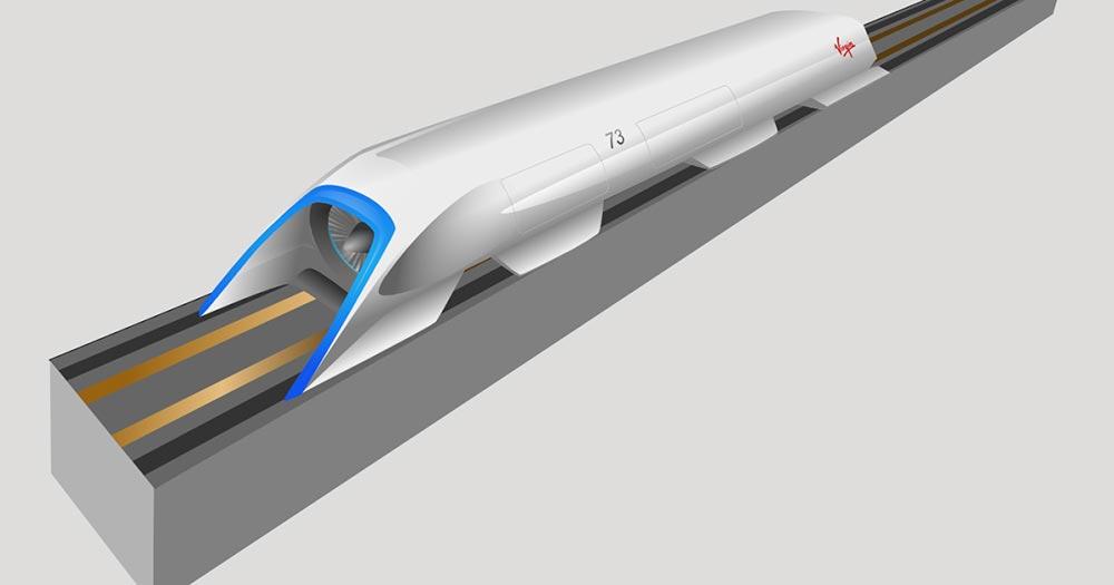 Вакуумный поезд Гиперлуп