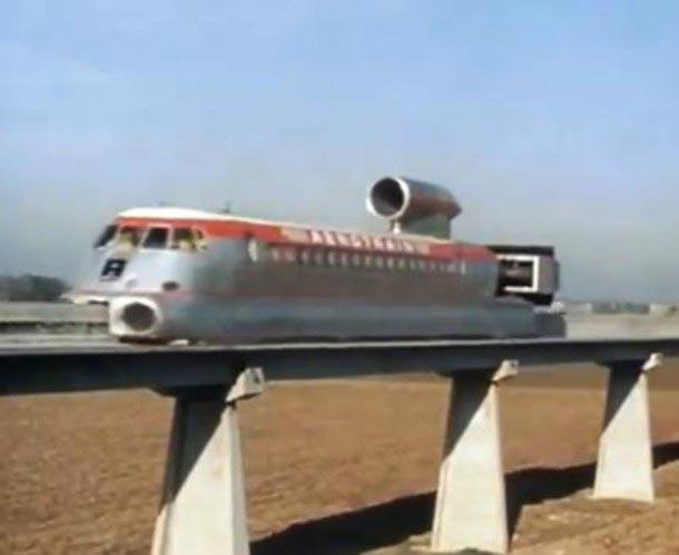 самые быстрые поезда мира Аэротрэйн Л80
