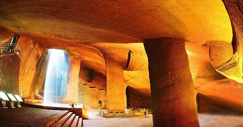 подземные чудеса Пещеры Лунъю