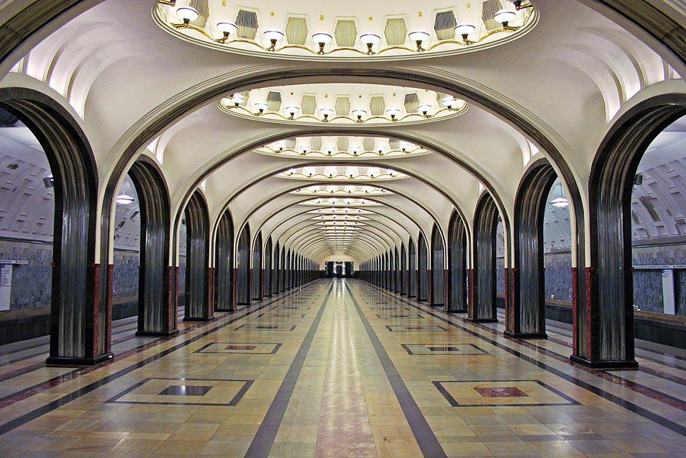 подземные чудеса Станция Метро Маяковская