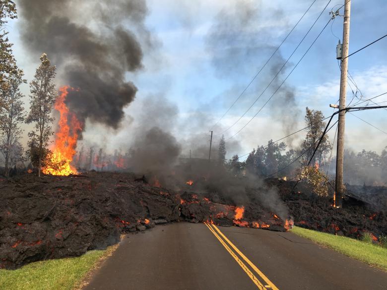 Гавайи вулкан Килауэа извержение