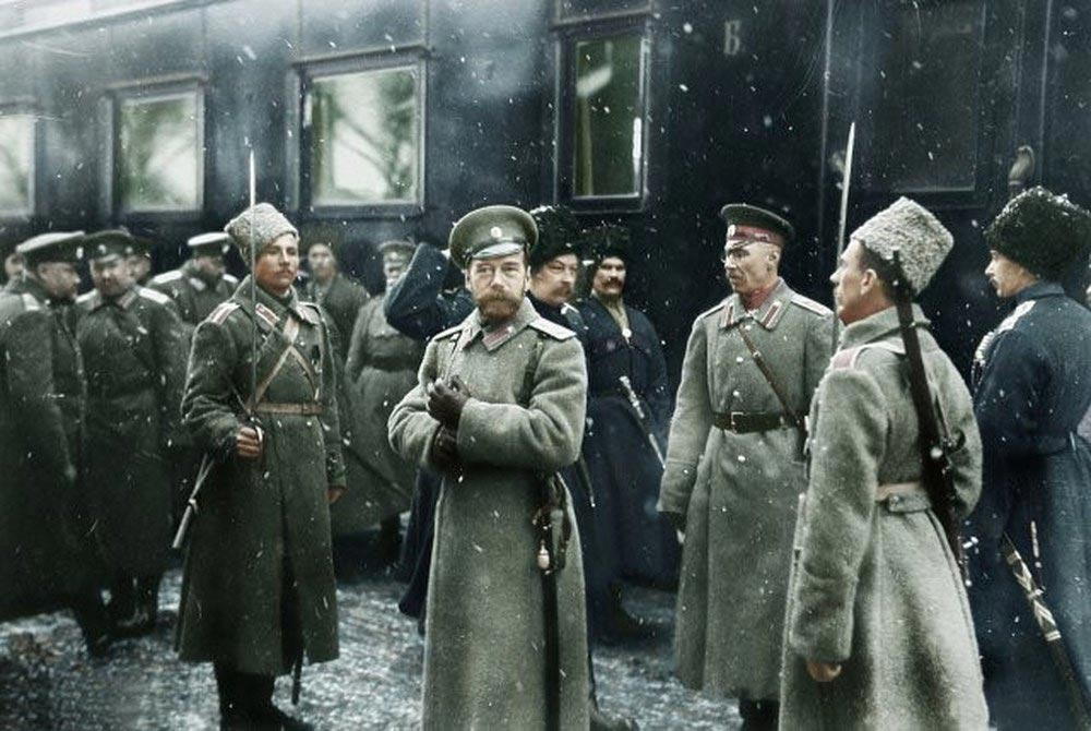 История России фото Император Николай II посещает 1-ю армию