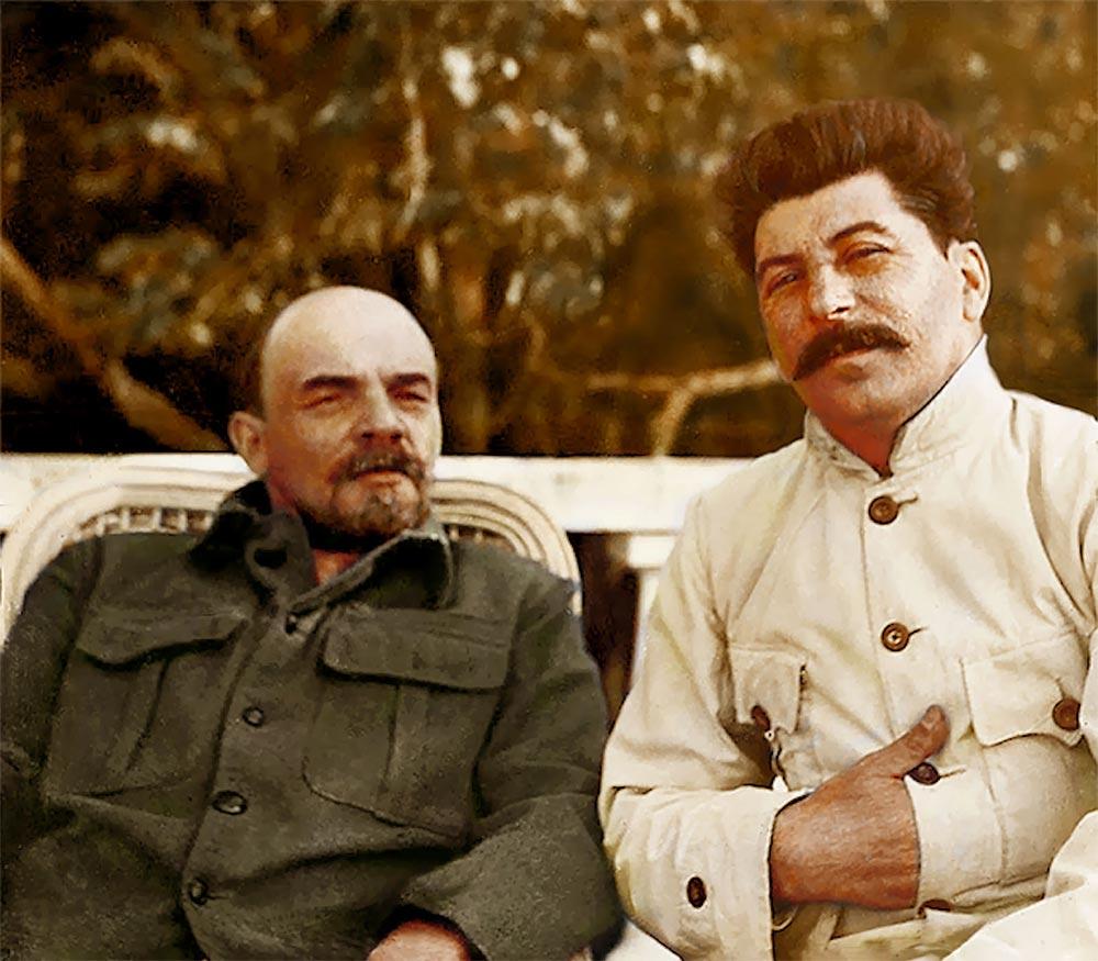 История России фото Владимир Ленин Иосиф Сталин Горки
