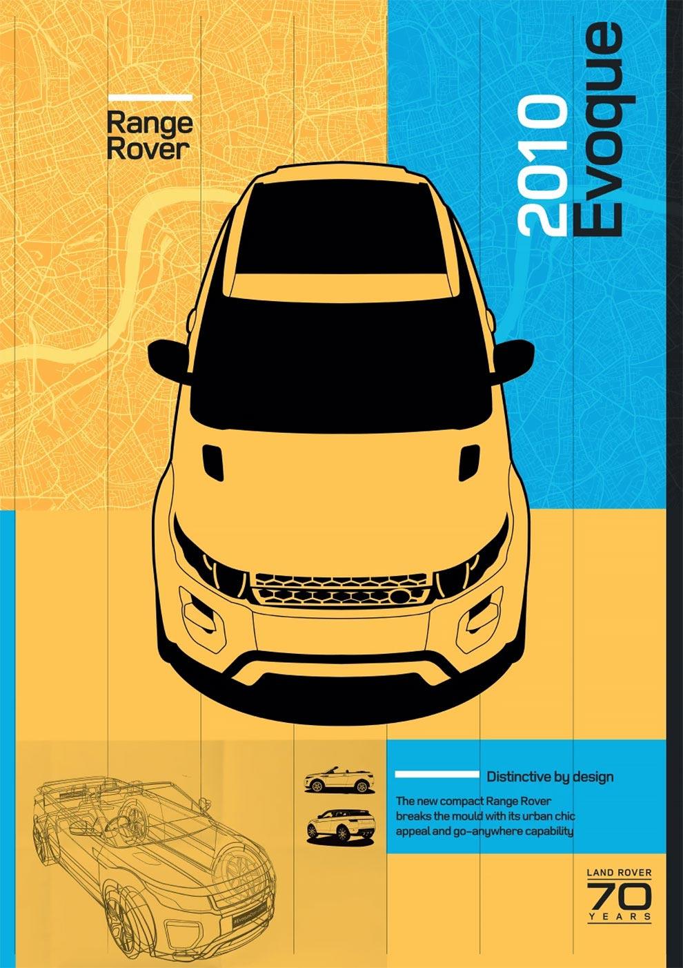 Land Rover отмечает 70 лет потрясающая коллекция плакатов