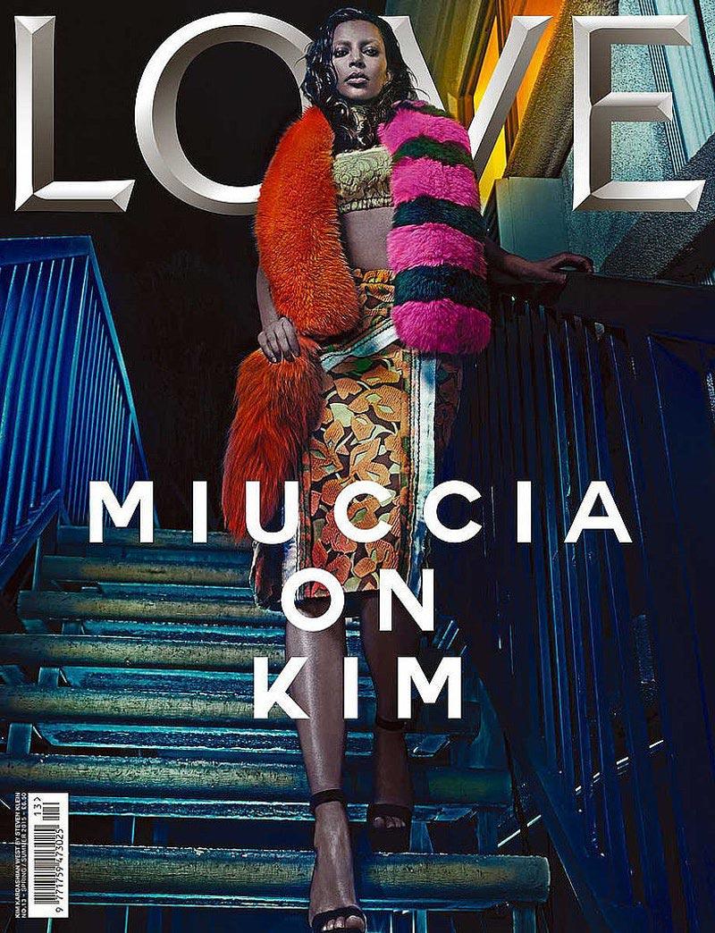 знаменитости Ким Кардашян журнал Love