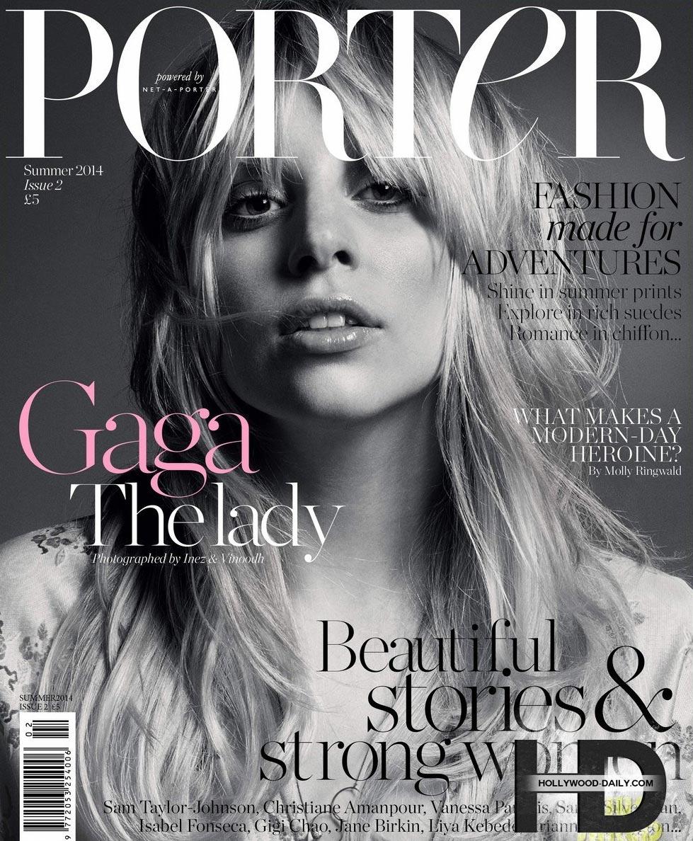 знаменитости Леди Гага журнал 2014 Porter Magazine