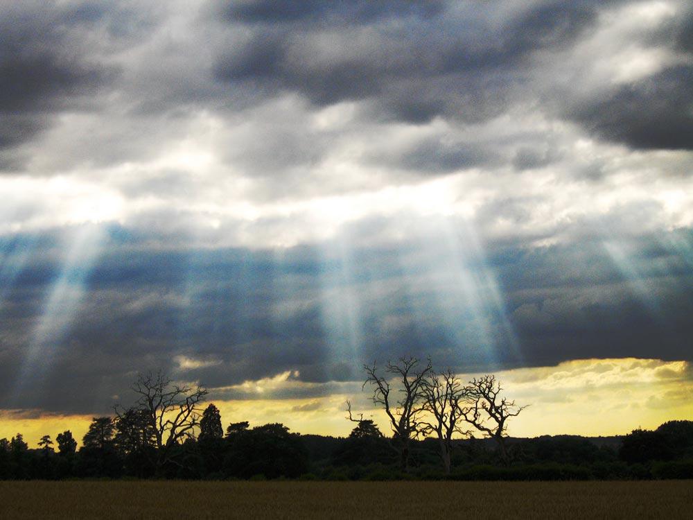 оптические явления в природе Сумеречные лучи