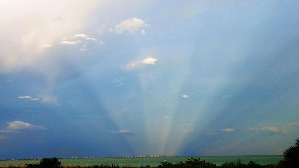 оптические явления в природе Противосумеречные лучи