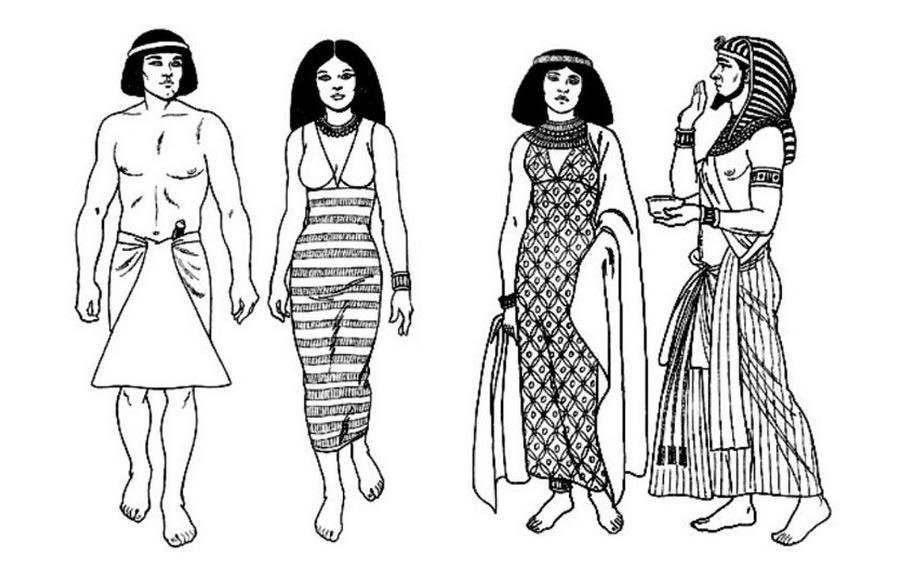 древний египет костюм с картинками ребенком